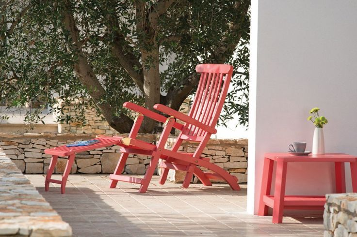 CRUISE RED fotele ogrodowe ETHIMO