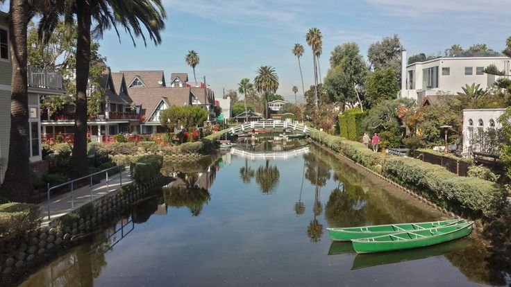 Pristine canals in Venice, Los Angeles
