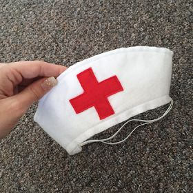 DIY Felt Nurse Hat