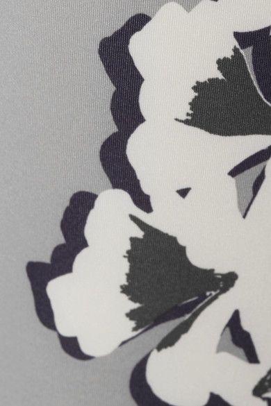Adidas by Stella McCartney - Floral-print Climalite Stretch Leggings - Gray - medium