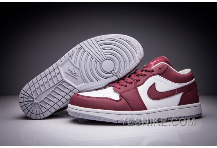 771fd45e5e63f0 ... Buy Big Discount Air Jordan 1 Low Wine Red White Men And Women Size  Shoes from ...