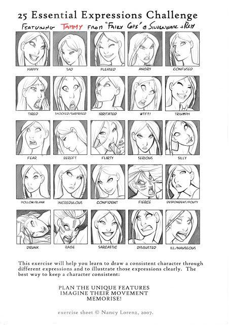 lesarcsplastiquesbd: Expressions du visage