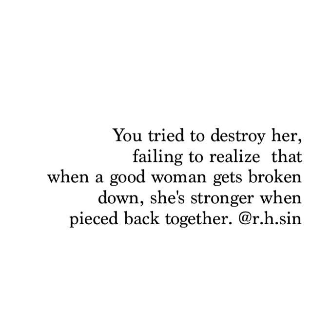 you can't keep a good woman down.