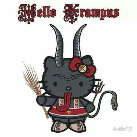 Hello, Krampus! Too cute for words!