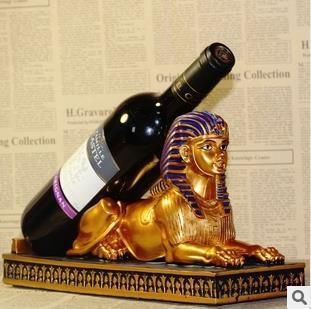 Resin crafts exotic sphinxes wine rack wedding gift crafts fashion home