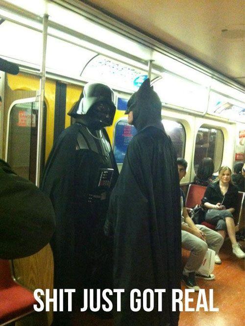 :DFace Off, Darth Vader, Awkward Moments, Darthvader, Funny, Dark Side, Batman, Dark Knight, Faceoff