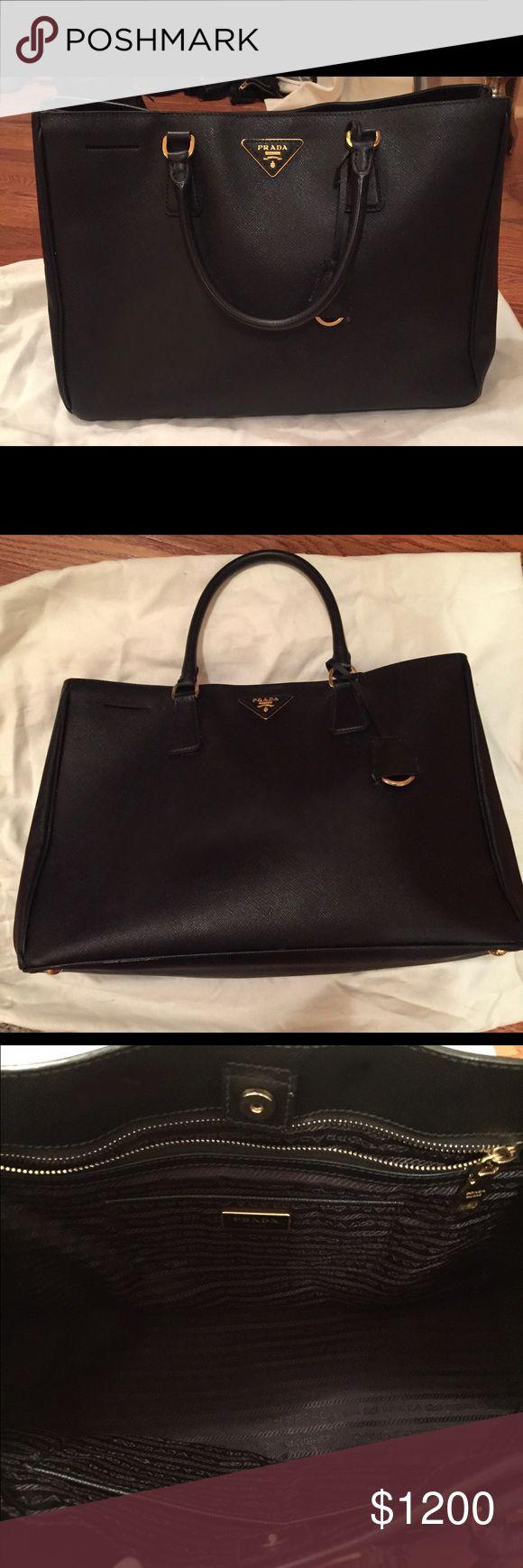 Prada bag Great condition black Prada bag. Still for sale in stores Prada Bags Totes