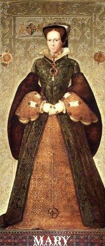Mary I (Mary Tudor) - By Richard Burchett Oil on panel, 1850's
