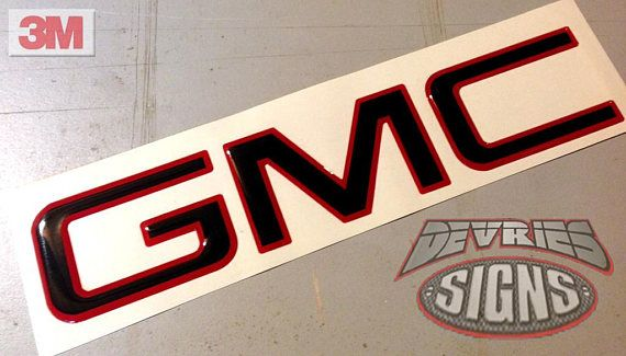 Precut Gel Coated Domed Emblem Overlay Compatible With Gmc Etsy