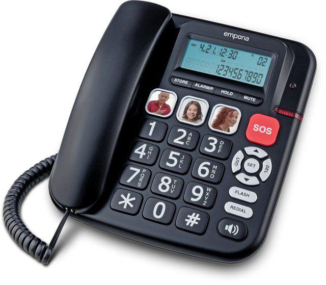 Telefon Analog Schnurgebunden Kft19 Telefon Wecker