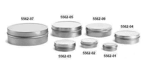 Metal Tins, Flat Tins with Rolled Edge Covers
