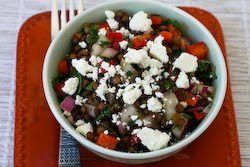 ... Salad Recipe with Red Onion, Mint, and Feta | Green Lentils, Lentils