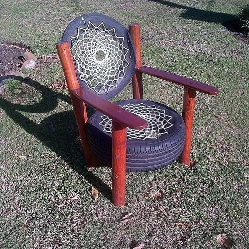 Hometalk :: Recycled Tyre Chair - Rocky Road Backpackers - South Africa