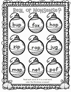 Christmas real or nonsense words