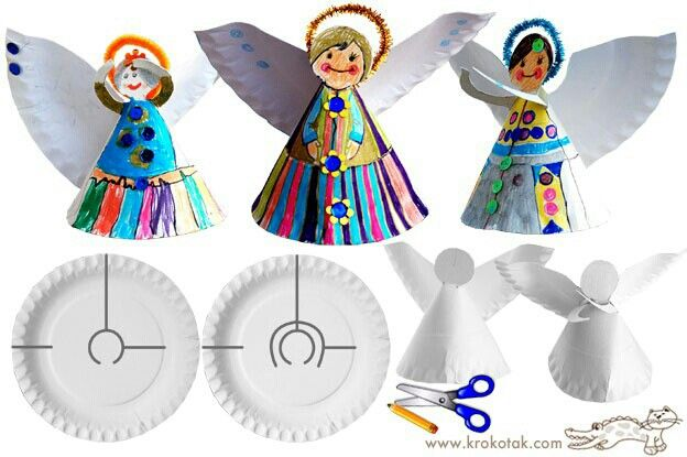 Beautiful paper plate angels...