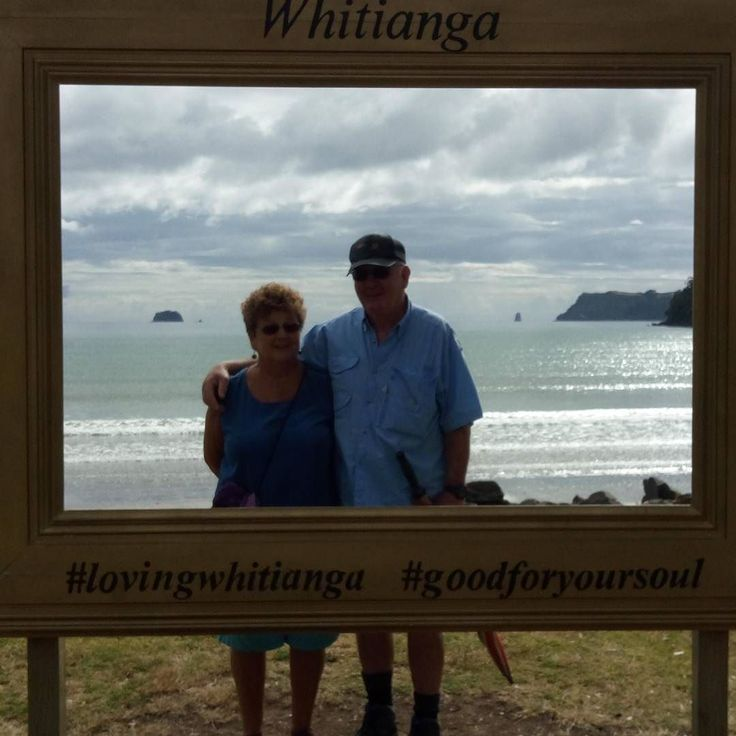 My mum and dad  thru the frame in #whitianga