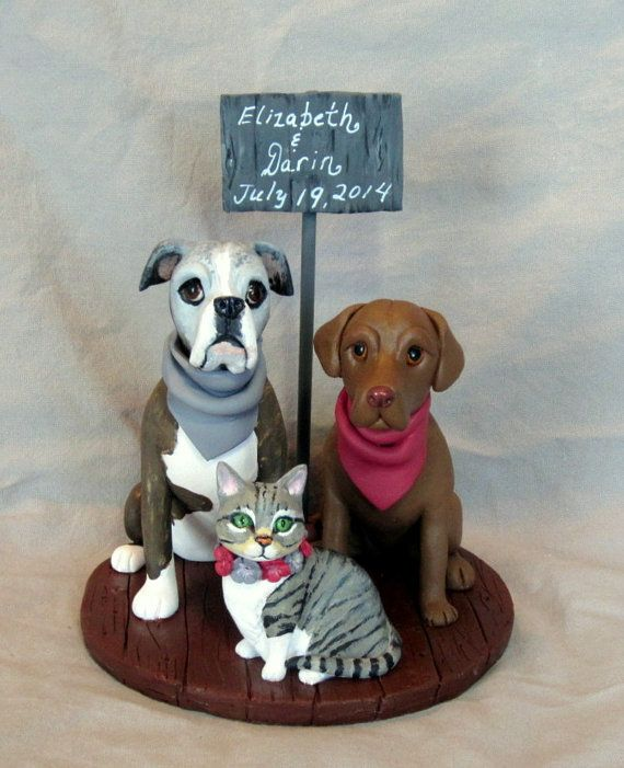 wedding cake toppers with dogs and cats custom made clay 2 cat wedding cake topper sculpture 26631