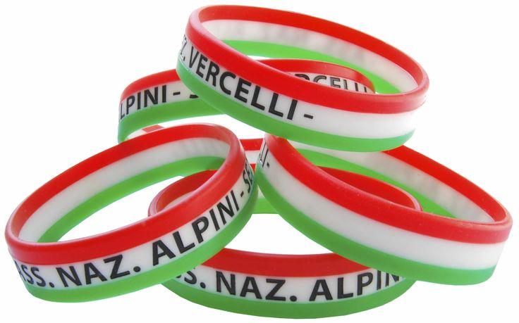 Braccialetti in silicone tricolori