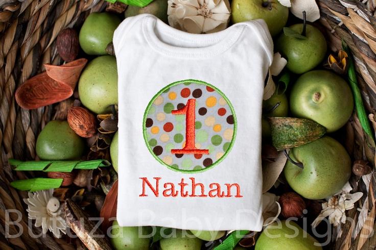 Boy, Girl, Personalized Birthday Shirt or Onesie, 1st birthday, 2nd birthday,  3rd birthday, 4th birthday, 5th birthday. $20.00, via Etsy.