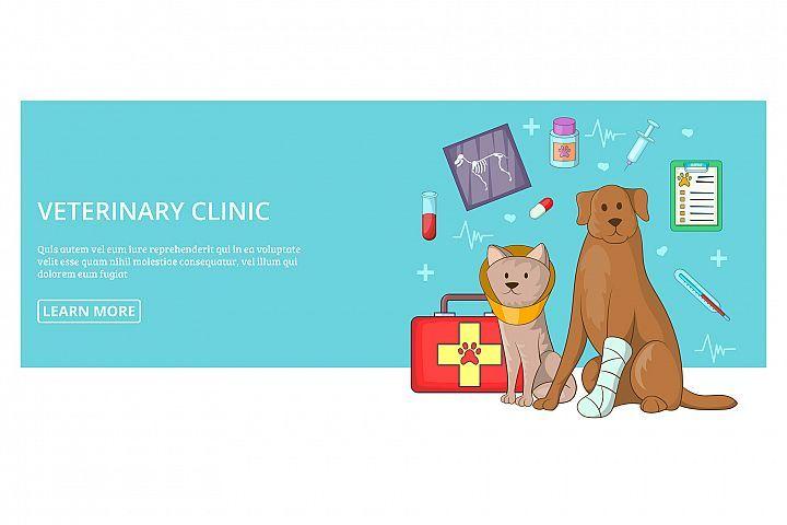 Vet Clinic Banner Horizontal Man Cartoon Style 309835 Icons Design Bundles Cartoon Styles Banner Vet Clinics