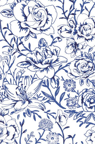 Flores Azules En Fondo Blanco Floral Patterns Backgrounds In