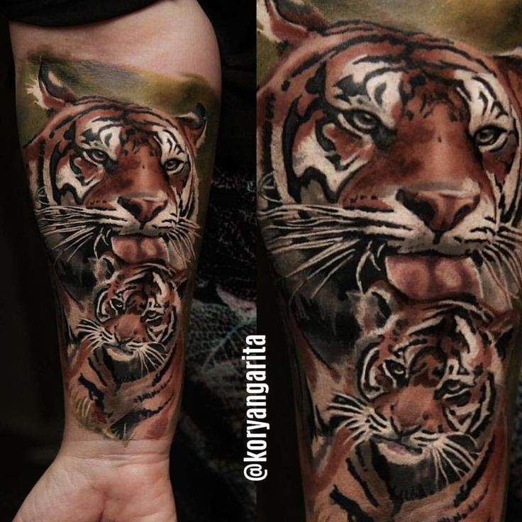 nice Top 100 tattoo from tattoo art magazine   #awesome #tiger & #cub #photo#realism#tattoo by @koryangarita -- ARTISTS: don't forget to tag us & #tattooartistmagazine to submit your tattoos for share consideration -- Check more at http://4develop.com.ua/top-100-tattoo-tattoo-art-magazine/