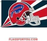 last 2 - BUFFALO BILLS HELMET DESIGN 3X5 FLAG
