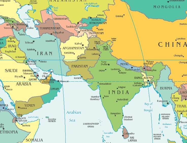 physical map of india and pakistan relationship