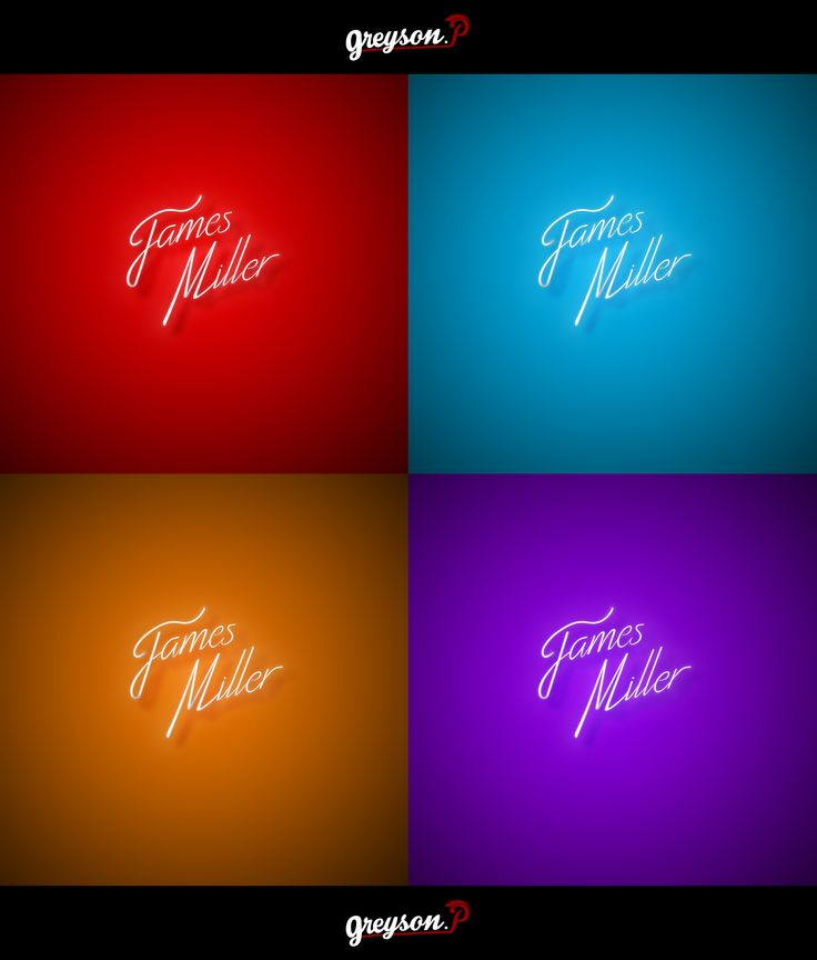 Planche logotype couleur | Présentation du logo pour James Miller [DJ]