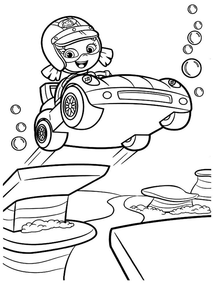 Скачать или распечатать раскраски с Гуппи и пузырьками для ...