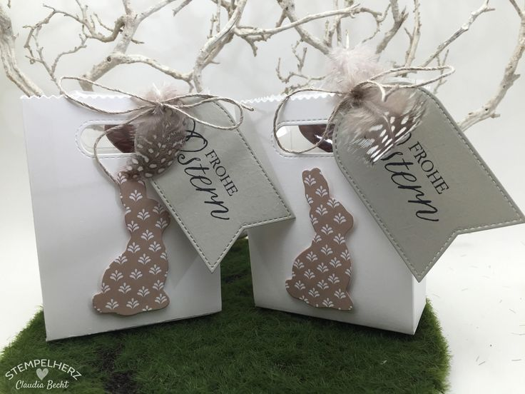 Stampin Up - Stempelherz - Ostern - Verpackung - Tüte - Kleine Osterhasen-Geschenkverpackung 01