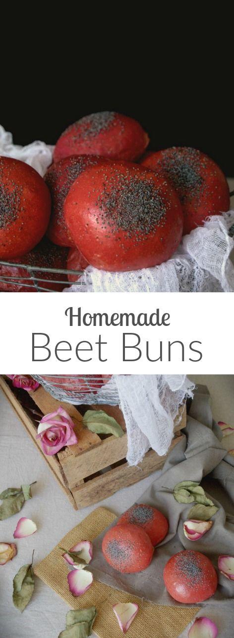 Homemade Beet Buns! Great color and flavor!!! how-to pics on Patty's Cake Deliciosos panecillos de remolacha para hamburguesas. Todo el paso a paso en el blog.