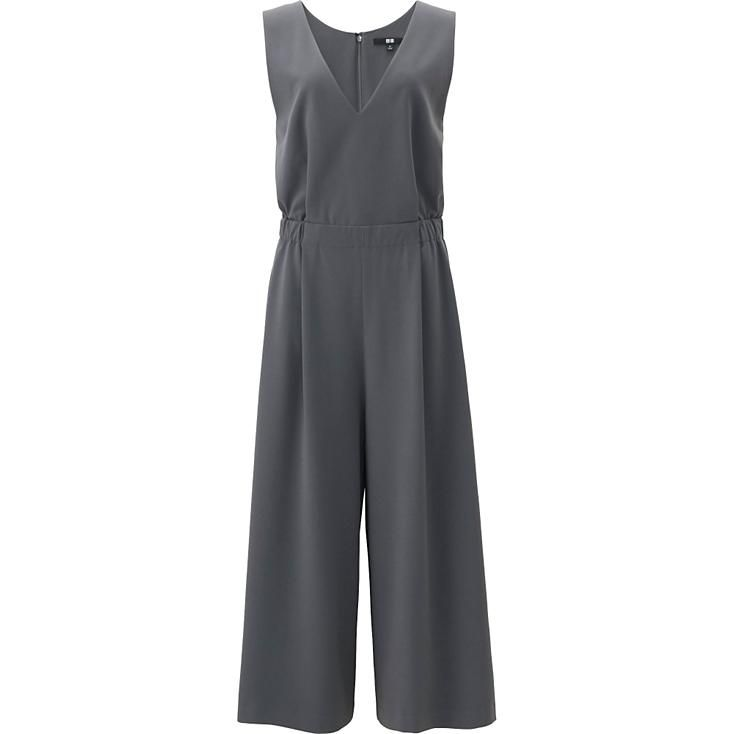 Elegant Uniqlo Women Chiffon Sleeveless Dress In Blue NAVY  Lyst