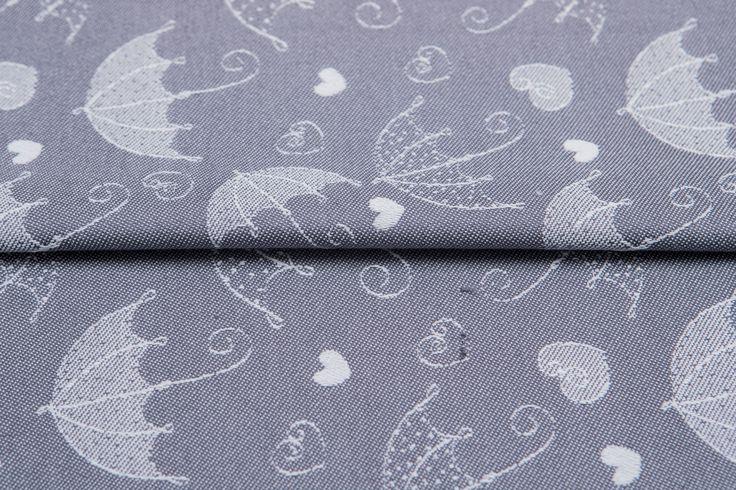 Umbrellas Silver #weavingstudio #fabricart #cottonfabric #umbrella  #grey #silver