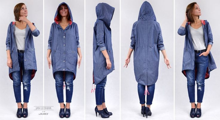 DIY: Light denim parka http://www.pracowniajanlesniak.pl/2016/03/5848/