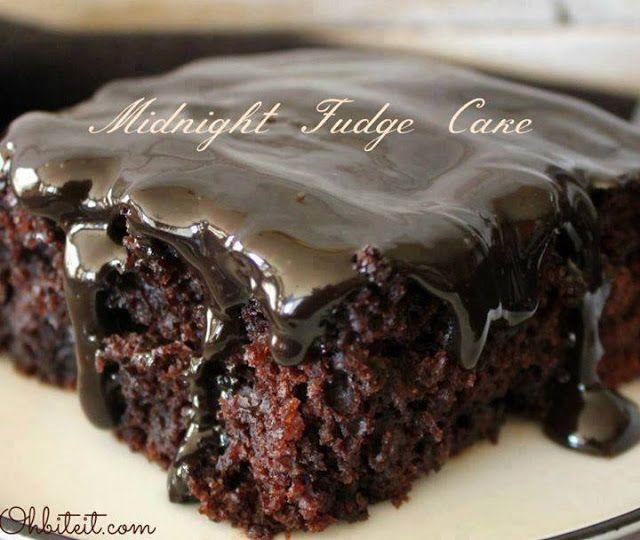 Midnight Fudge Cake ~ best recipes