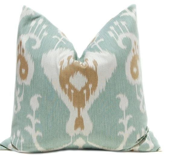 Seafoam Green Pillows Decorative Throw Pillow Cover One Pillows X