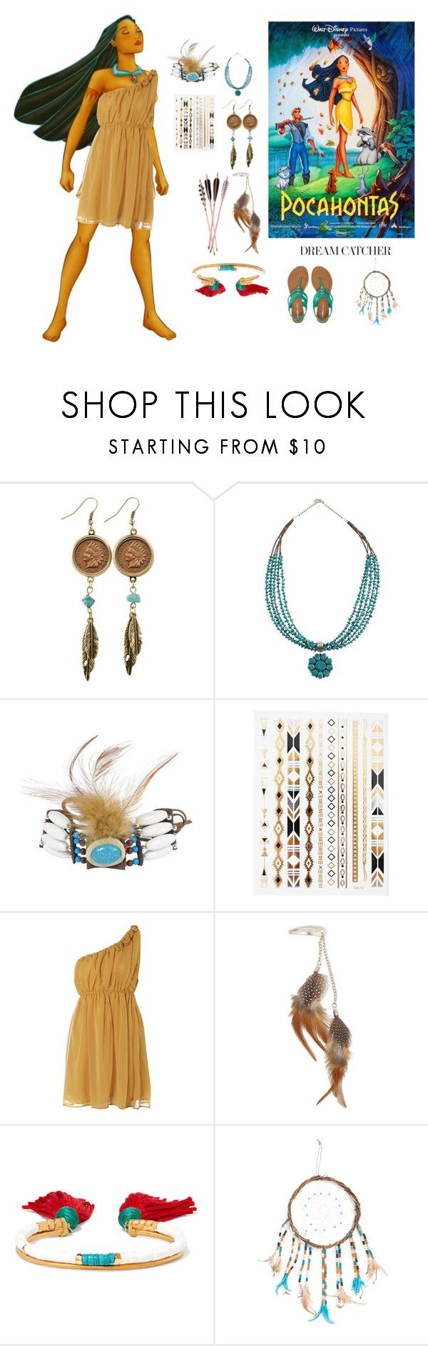 """""""Indian Princess contest"""" by polychampion-805 ❤ liked on Polyvore featuring American Coin Treasures, Sodamix, Aurélie Bidermann and Aéropostale"""