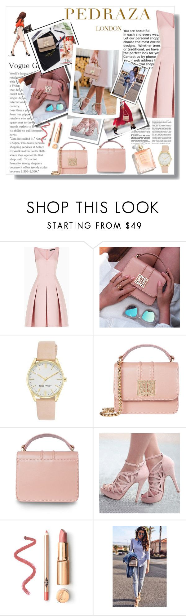 """PREDEZA LONDEN"" by lillivangogh ❤ liked on Polyvore featuring BCBGMAXAZRIA and Nine West"