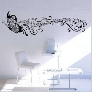 love the idea of the musicical notes trialing behind the butterfly may add this into my tattoo for my cousin
