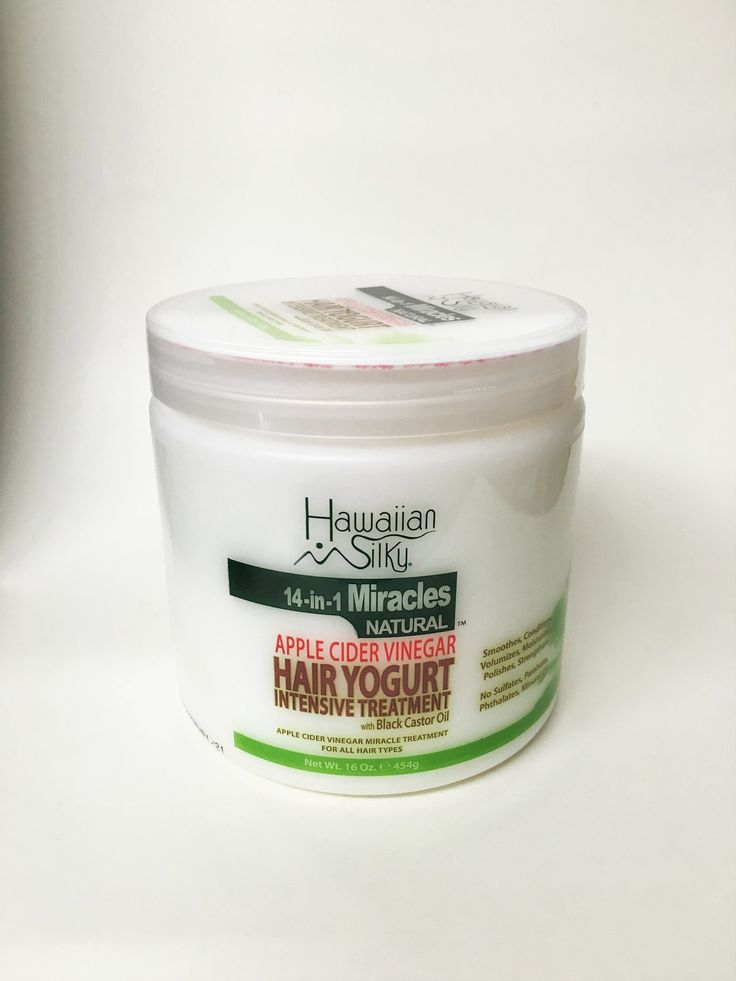 Hawaiian Silky 14-In-1 Miracles Natural Apple Cider Vinegar Hair Yogurt Intensive Treatment 16 Ounce