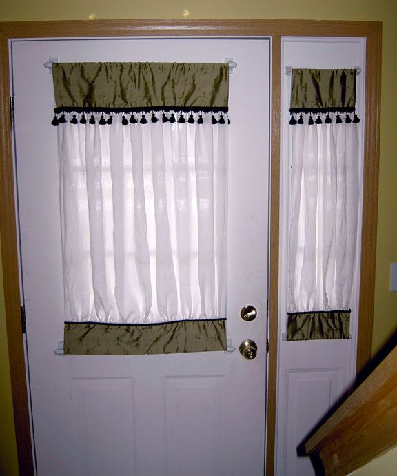 7 best images about front door on pinterest door window for Front door window curtains