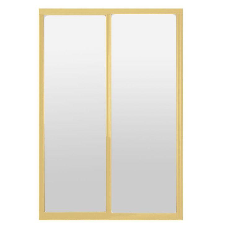 Contractors Wardrobe 60 in. x 81 in. Silhouette 1-Lite Mystique Glass Bright Gold Frame Aluminum Sliding Door