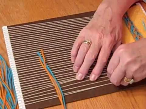 Rya - YouTube.  Awesome tutorial by Sandy Boccuzzo on creating fringe in weaving.