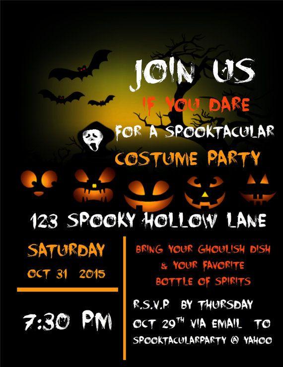 Halloween Invitation templateDIY invitationsgift by GloriousTymes
