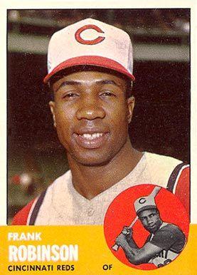 frank robinson baseball cards | 1963 Topps Frank Robinson #400 Baseball Card Value Price Guide