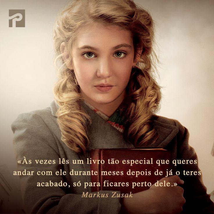"""Frase de """"A Rapariga que Roubava Livros"""" de Markus Zusak  http://www.presenca.pt/livro/a-rapariga-que-roubava-livros/"""