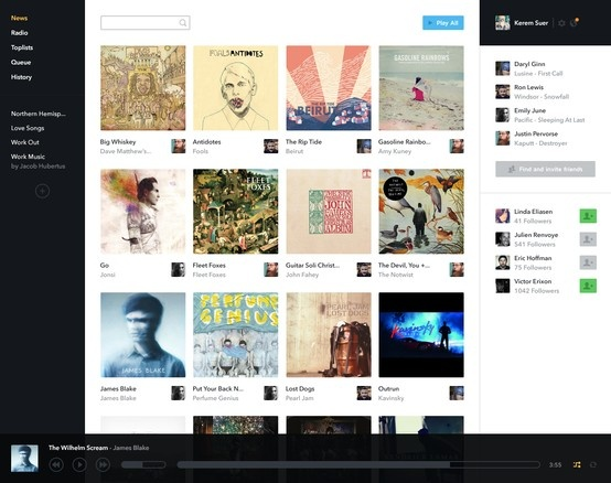 17 best Music Web Application Design images on Pinterest ...