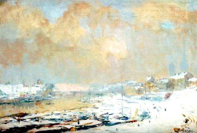 Rouen, The Pré aux Loups | Albert Lebourg [1880]