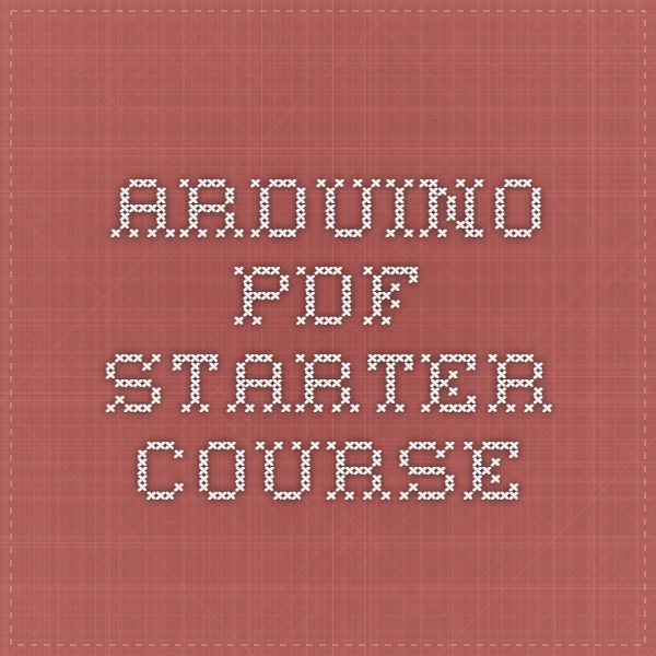 Arduino pdf starter course